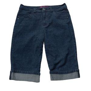 Gloria Vanderbilt Denim Jean Shorts, Dark Wash, 10